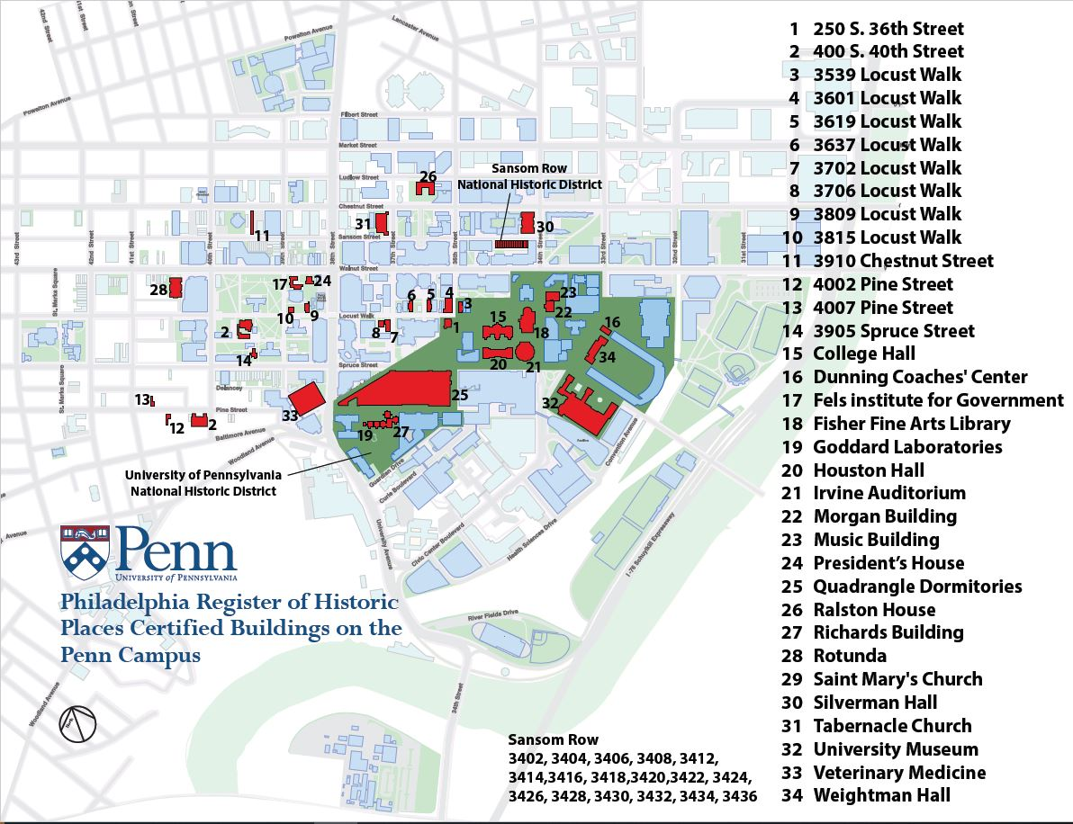Download PDF of Penn area map