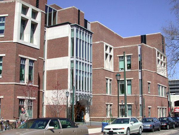 the exterior to the Schattner Center