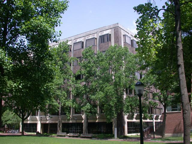McNeil Building seen through the trees