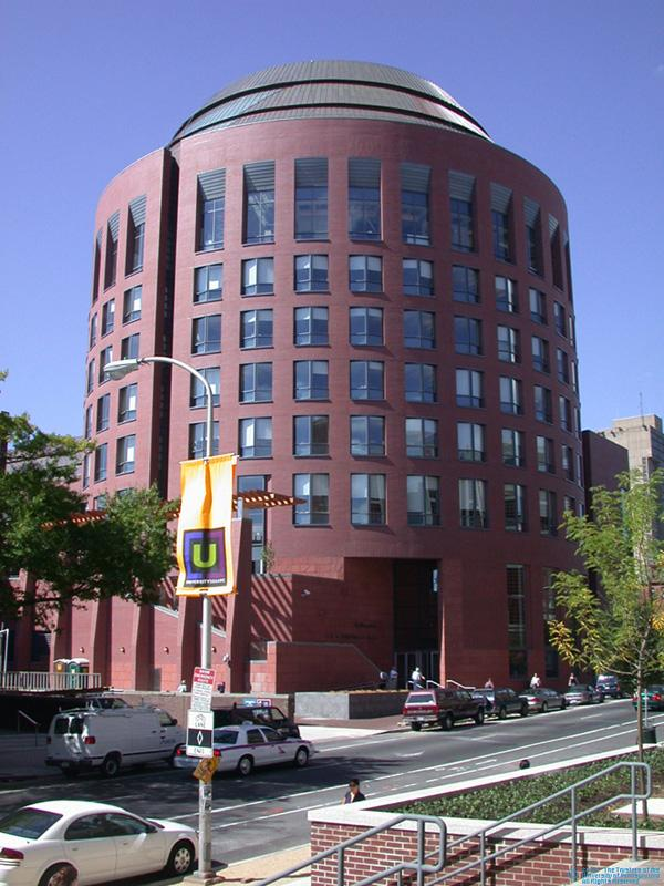 Huntsman Hall as seen from the street