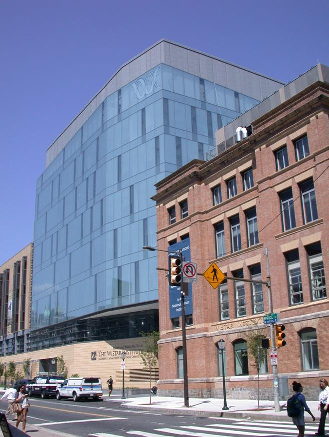 view of Wistar Institute from the street