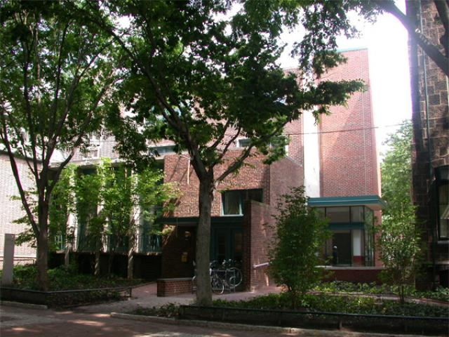 3615 Locust Walk building through trees