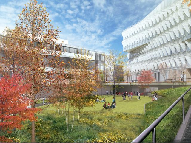 VLEST Courtyard View Rendering