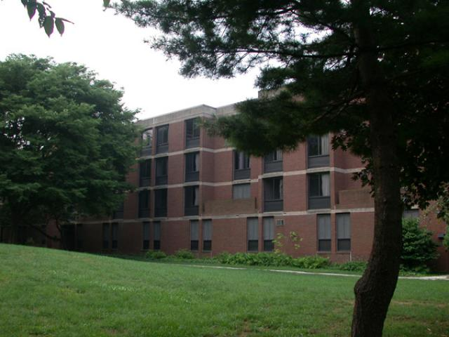 Van Pelt Manor with a tree in the foreground