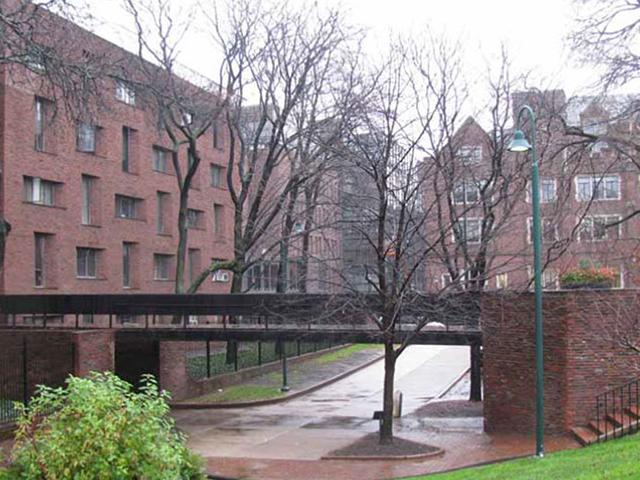 Hill college house existing bridge on west side
