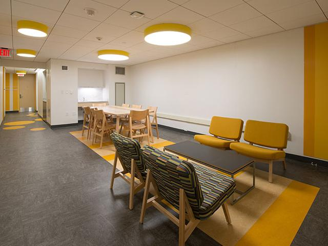 Hill student kitchen yellow quadrant