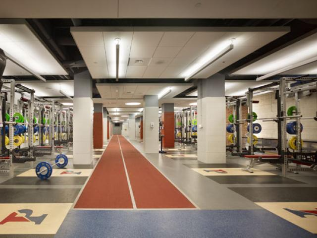 Varsity Performance Facility in Weiss Pavilion