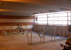 bike rack in parking Garage on Chestnut 34