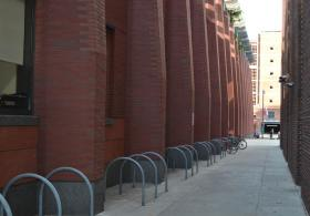 Huntsman Hall bike rack