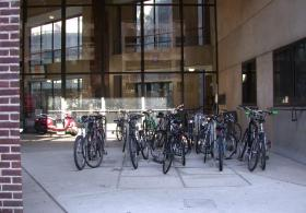 bike rank in front of Penn Museum East