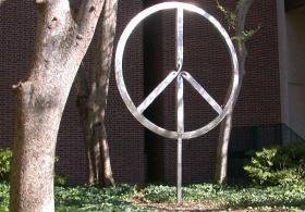 Peace Symbol surrounded by nature