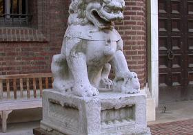Female Guardian Lion statue