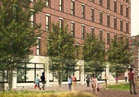 Biotech Commons Exterior Rendering