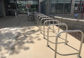 Bike rack at the Penn Children's Center