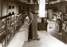 ENIAC black and white photo