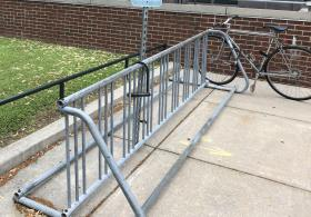 Hillel at Steinhardt Hall bike rack