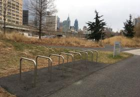 Penn Park north bike rack