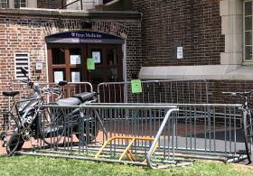 Weightman Hall bike rack