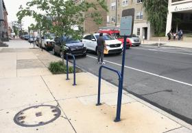 Bike rack at Public Safety