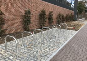Next to the new Wharton Building is a new 40 bike capacity bike corral