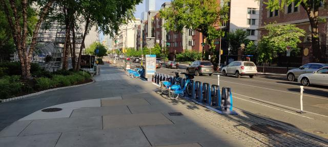 picture of Indego Bike Share in front of Domus at 34th and Chestnut