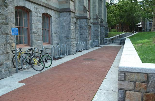 bike rack next to Cohen Hall North