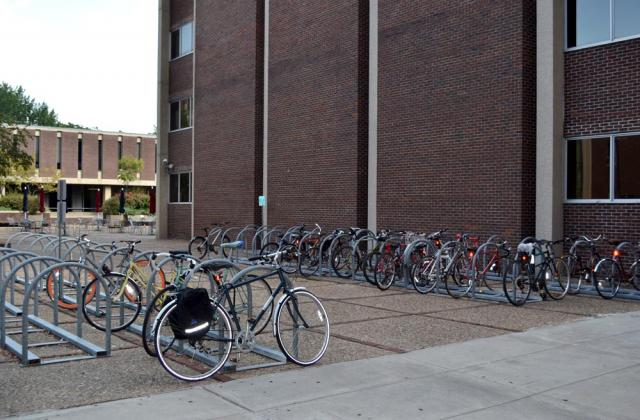 Solomon Building bike rack