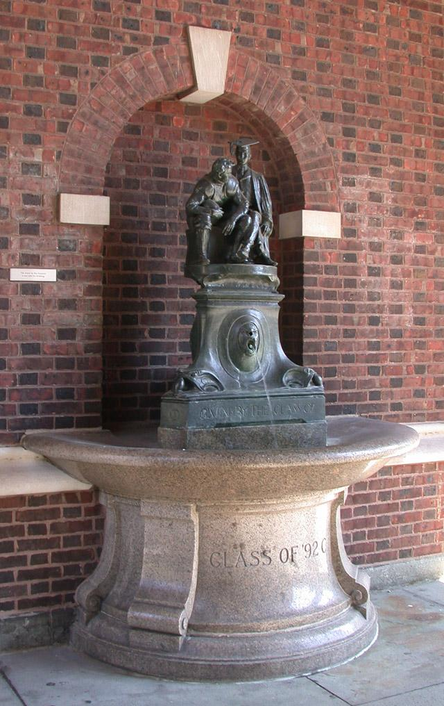 Scholar, Football Player: A Drinking Fountain