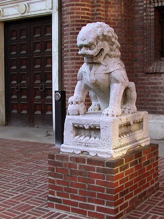 Male Guardian Lion statue