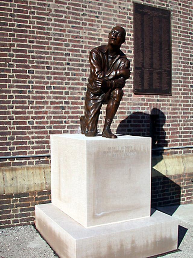 George Munger statue tight angle