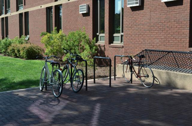 DuBois College House bike rack