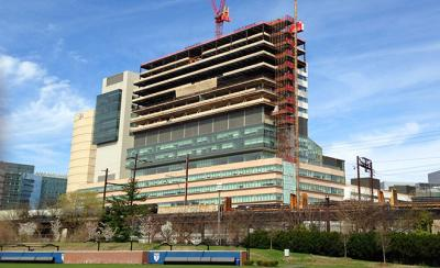 Perelman Center For Advanced Medicine South Tower from ground