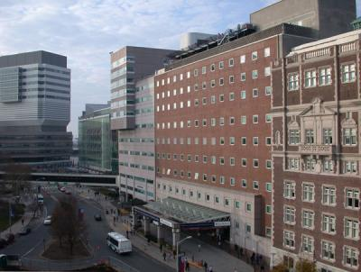 Hospital of the University of Pennsylvania as seen from across the street
