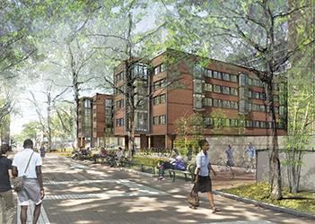 New College House West Thumbnail, from Locust Walk