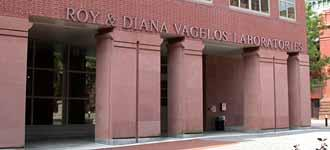 Roy and Diana Vagelos Laboratories of the IAST entrance