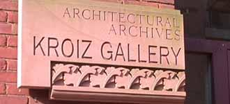 Architectural Archives / Kroiz Gallery signage